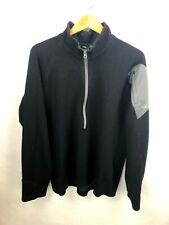 Outdoor Research 1/2 Zip Long Sleeve Wool Blend Pullover Mens XL Black