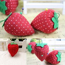 2pcs Sewing Craft Needle Storage Holder Pin Cushion Cute Strawberry Design Mini
