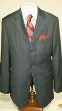 Mens VITALE.BARBERIS CANONICO blue 3 button glenn plaid suit sz 41L