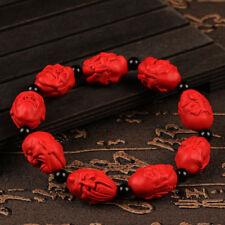 genuine china 18 luohan arhats bracelet mala prayer beads tibetan cinnabar lohan