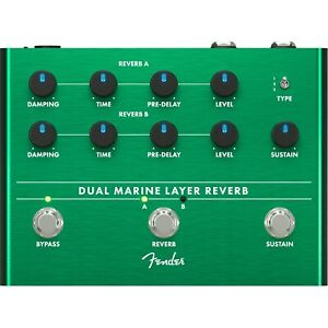 Fender Dual Marine Layer Reverb Guitar Effects Pedal