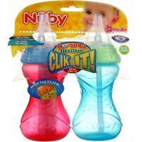 Nuby Clik-It FlexStraw Sippy Cup, 12m+, 10 oz, 2 Ct