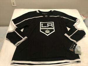 NWT $180.00 Adidas Mens LA Kings Authentic Home Jersey Black Size 54 (XL)