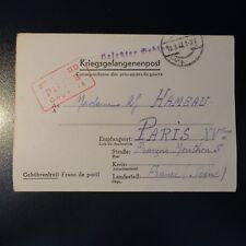 LETTRE PRISONNIER DE GUERRE STALAG II D 18.09.42 KRIEGSGEFANGENENPOST POW