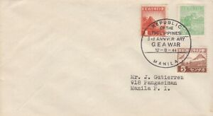 Philippines, Japanese Occupation, 1944, Cover, GEA War, cds