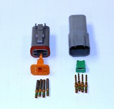 Deutsch DT 4 Pin Connector Kit 14 GA Gold Contacts