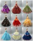 Lot 15 items= 5 Princes Dress/Wedding Clothes/Gown+10 shoes For 11.5in.Doll S180