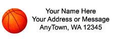 "30 Personalized Basket Ball Return/Mailing Address labels  1""x 2.625"""