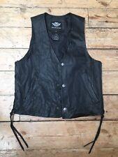 Genuine Harley Davidson Leather Waistcoat Jacket Vest Men's Medium