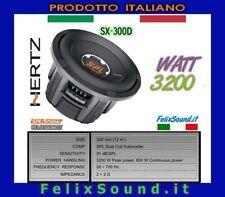 """HERTZ SX 300D SuBwOOfeR  30cm 12"""" 3200w  2+2 ohm"""