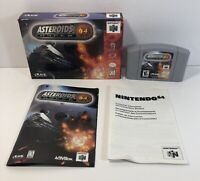 Asteroids Hyper 64 Nintendo 64 N64 Complete in Box Authentic CIB Tested