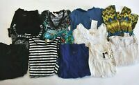 Women's Small Various Brands & Styles Short Sleeve Summer/Spring Tops Lot of 12