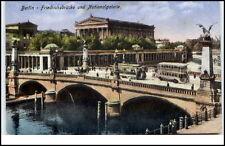 Berlino 1928 BUS tram tram sul ponte Friedrich Galleria Nazionale vecchi autobus