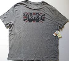 LUCKY BRAND Norton Roadholder Graphic Short Sleeve Gray Cotton T Shirt Large
