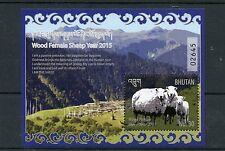 Bhutan 2015 MNH Wood Female Sheep Year 1v S/S Lunar New Year Chinese