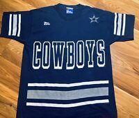 Vintage Dallas Cowboys Deion Sanders Jersey TShirt NFL Size L 90's Single Stitch