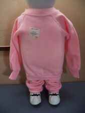 Pannill Exercise Top and Pants Pink Acrylic Cotton Girls Size S (3-4) NWOT USA