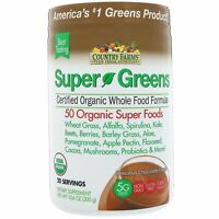 Super Greens, Certified Organic Whole Food Formula, Delicious Chocolate Flavor,