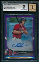 TRISTON CASAS AUTO 1st 2018 Bowman Chrome PURPLE REFRACTOR #/250 RC BGS 9 MINT