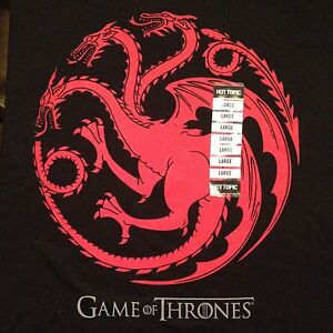 NEW WITH TAGS GAME OF THRONES T SHIRT LARGE