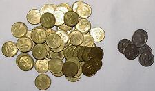 LOT de 63 JETONS à CONSOMMER, 2 MODELES, 57 x 50 et 6 x 75 centimes, début XXè