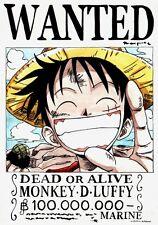 Poster one piece Luffy Zoro Nami Kunststoffbeschichtet Groß A3