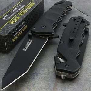 Tac-Force TF-499BT Gray Rescue Assisted Folder Glassbreaker Knife
