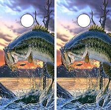 C220 Fish Cornhole Board Wrap LAMINATED Wraps Decals Vinyl Sticker