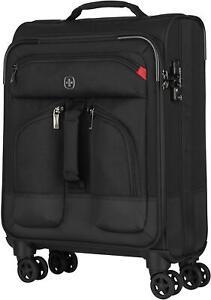 """Wenger Deputy 20"""" Softside Luggage Carry-On Suitcase - Black"""