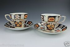 English Imari Strathmore Fine China Made in England 2 Cups and 2 Saucers