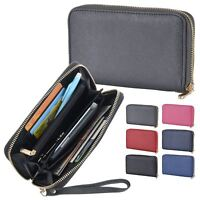 Womens Britt Long Zip Fastening Purse With Coin Card Phone Holders Wrist Strap