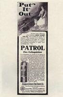 "PATROL FlRE EXTINGUISHER Vintage 1906 6x9"" REPRINT AD American-LaFrance Engine"