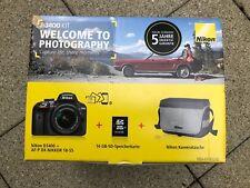 Nikon D3400 Kamera mit 18-55mm Objektiv / Zubehörpaket **NEU&OVP** Garantie