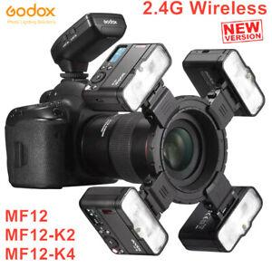 Godox MF12 Macro Flash 2.4G TTL Wireless Flash Light Speedlite For Camera DSLR