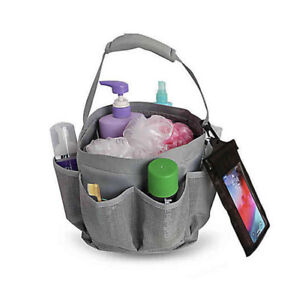 """SALT Grey Mesh Shower Tote 8""""LX6.25""""WX8.5""""H   W/Water Resident Cell Phone Pocket"""