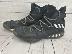 Adidas Crazy Explosive High Top Core Black Basketball Shoes B42421 sz 17