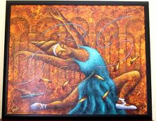 """Dmitry Masly Original Oil Painting on Canvas Signed """" Ballet ABB"""" ~34"""" X  28"""""""
