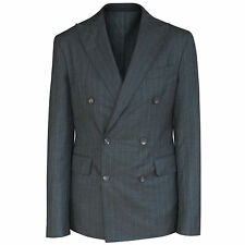 DSQUARED2 $1,790 slim fitted gray wool double breasted blazer jacket 38/48 NEW