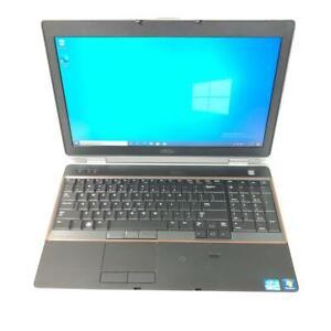 """Dell Latitude E6520 15.6"""" Core i7 2640M 8GB RAM 256GB SSD Win 10 Pro"""