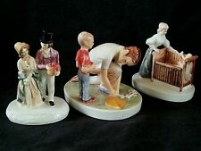 Vintage Sebastian miniatures, 3 pieces P.W.Baston Victorian Couple 1938
