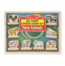 Melissa & Doug My First Wooden Stamp Set Farm Animals #2390