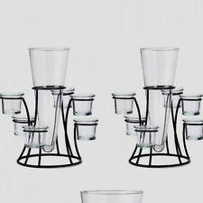 2 Vase Candelabra Black Metal Candle Holder Wedding Centerpieces Table Decor