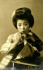 Geisha Girl Japanese Japan Woman Far East Vintage 11x8 Inch Photograph Reprint