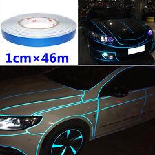 Universal Blue Reflective Sticker Tape Strip Decorative Car Body Night Stripe 1x