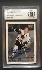 2012-13 Fleer Retro #78 Bobby Hull Autograph Beckett BCCG Authenticated