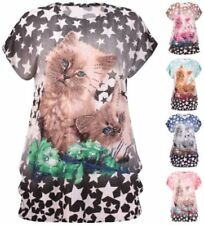Polyester Animal Print T-Shirt Tops for Women