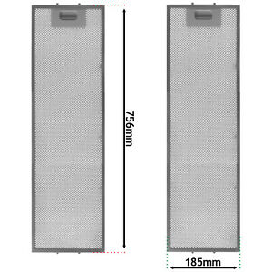 Grease Filter for ELECTROLUX Cooker Hood Vent Fan 756mm x 185mm EFP90460OS x 2