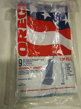 ORECK XL high density 6 filter bags for top-fill upright vacuum cleaners + belt