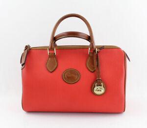 Dooney & Bourke Authentic Red Pebbled Leather Satchel Handbag