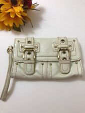 RAFE FOR TARGET White Patent Leather Buckle Wristlet Clutch Handbag Purse